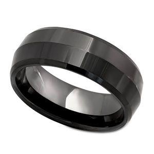 Men's Black Ceramic Ring - NWOT